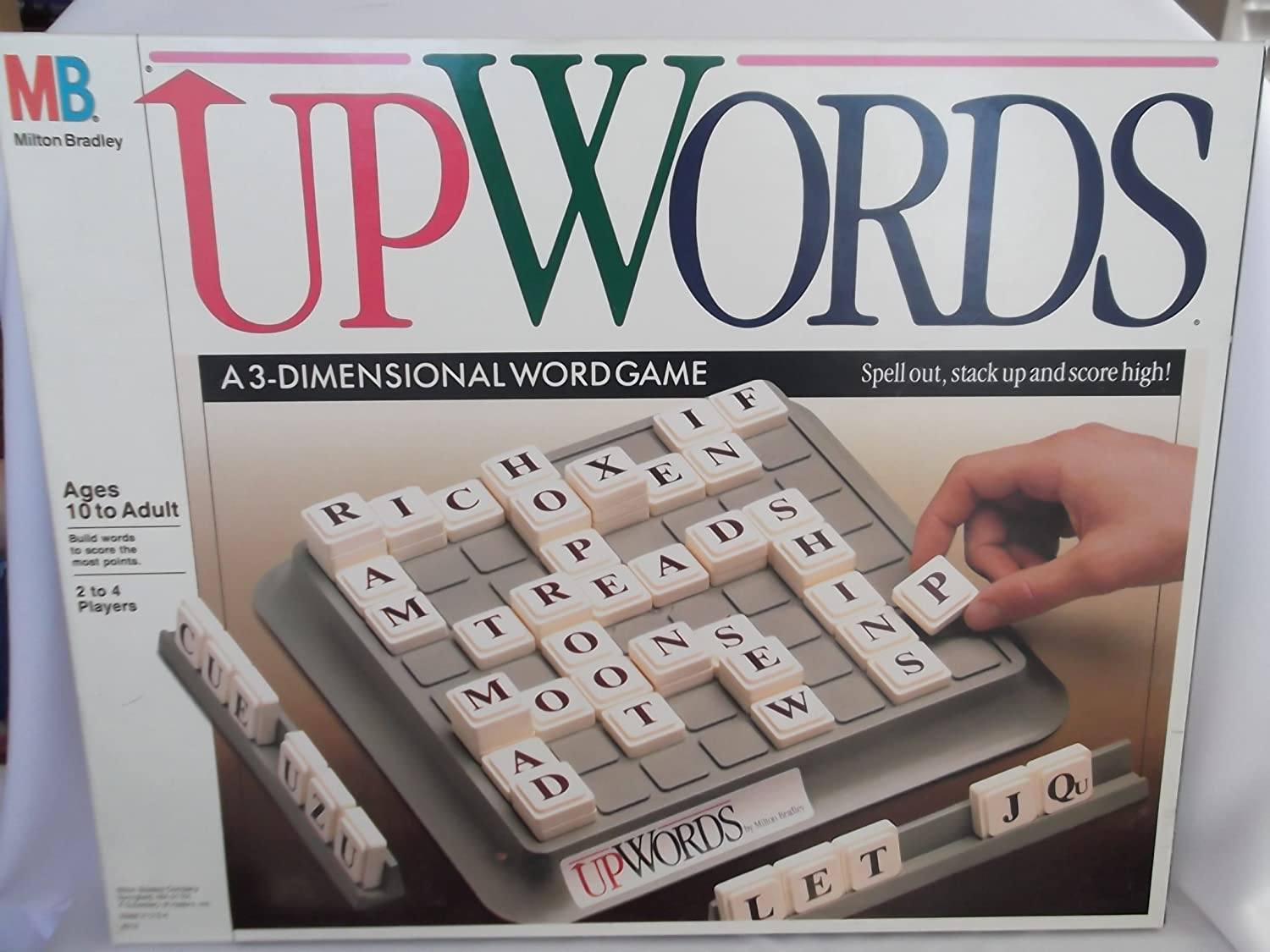 Amazon.com: Upwords: A 3-Dimensional Word Game (1988): Toys & Games