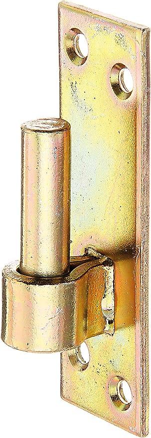 133 x 40 mm S/üddeutsche Form galvanisch gelb verzinkt DI-Haken /Ø16 mm GAH-Alberts 318796 Kloben auf Platte