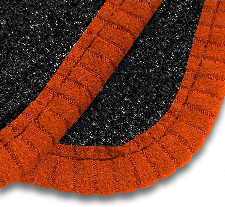 Black Heel Pad Heavy Duty Rectangle Heel Pad Car Mats to fit Grandland X 2017+ Black Trim Anthracite Carpet 2230