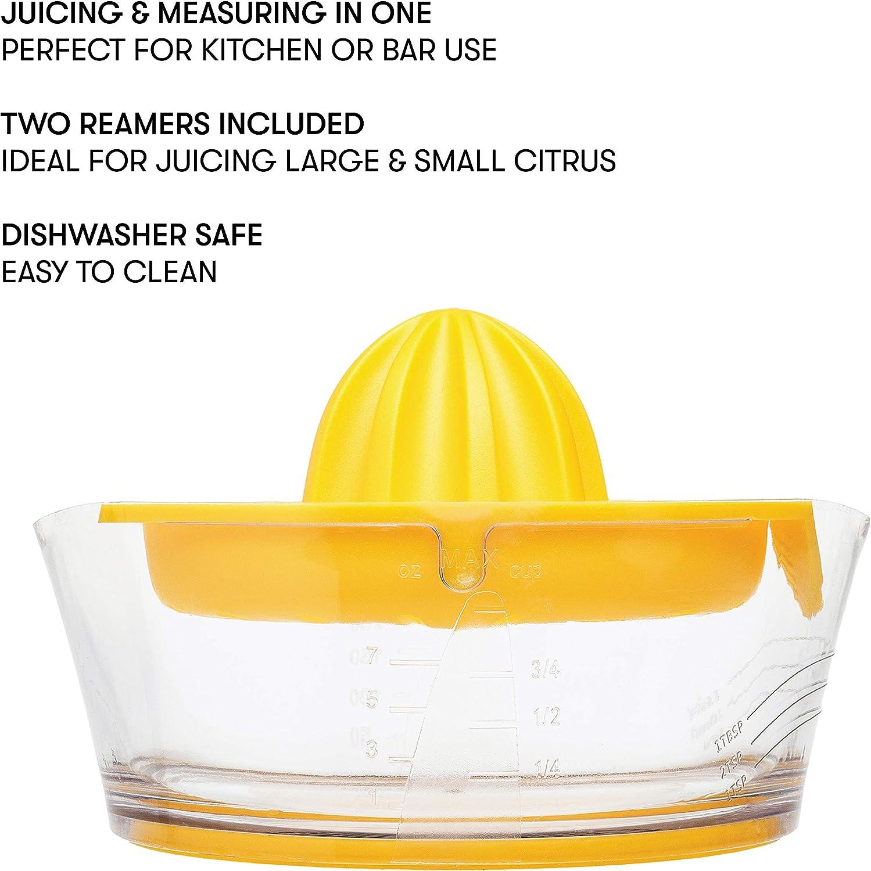 Premium Quality Lemon Orange Lime Juicer 2 Size Reamers Included ...