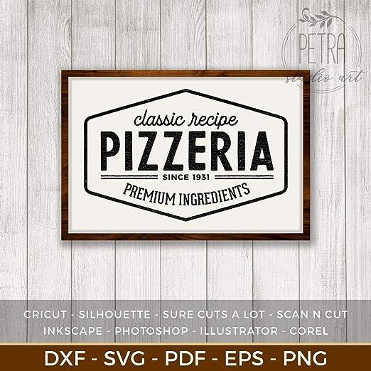 istihar Pizzeria Cartel de Madera para decoración rústica de ...