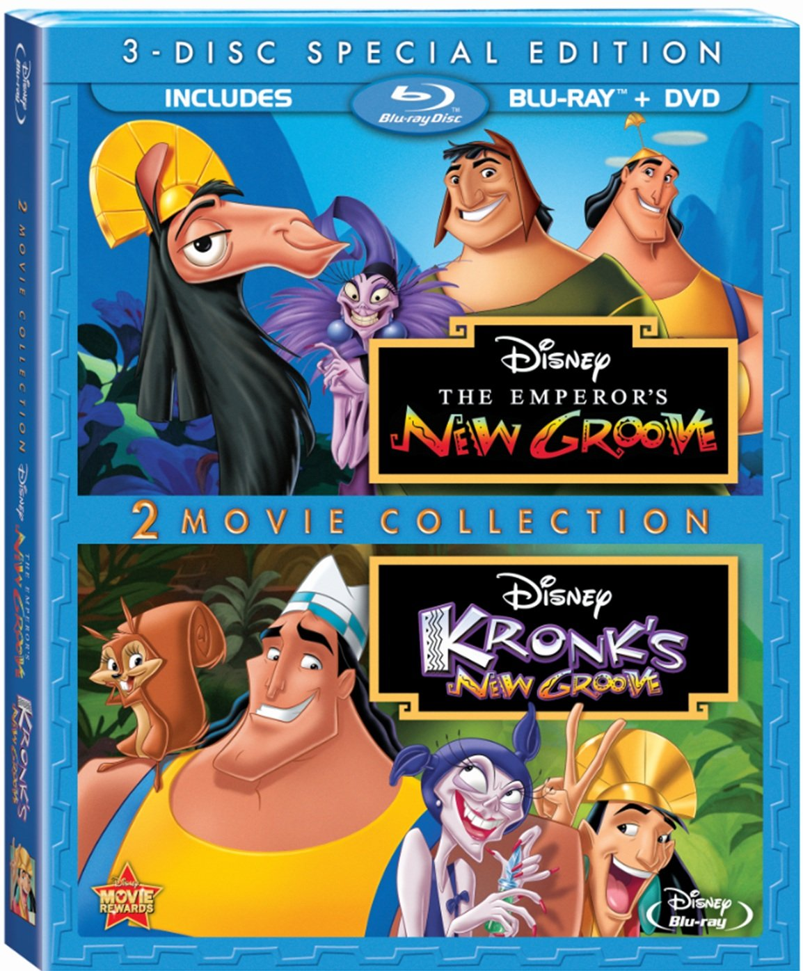 Blu-ray : The Emperor's New Groove / Kronk's New Groove (With DVD, Special Edition, Dolby, 3 Pack, Widescreen)