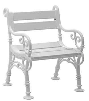 Elegant Sitzbank/Gartenbank / Sessel 1 Sitzer: Linderhof, Länge 68cm, Weiß (
