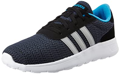 63c30ec5c784e adidas neo Men's Lite Racer Cblack, Msilve and Solblu Running Shoes - 7 UK/
