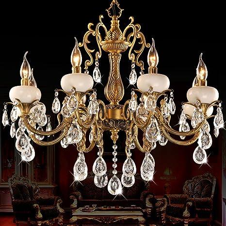 araña de cristal Jade vela lámpara lámpara de cobre cobre ...