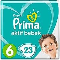 Prima Bebek Bezi Aktif Bebek,6 Beden, 23 Adet, Ekstra Large Paketi
