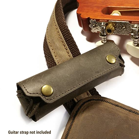 Tuff-Luv Western Leather Rustic Harmonica Case with Belt ...