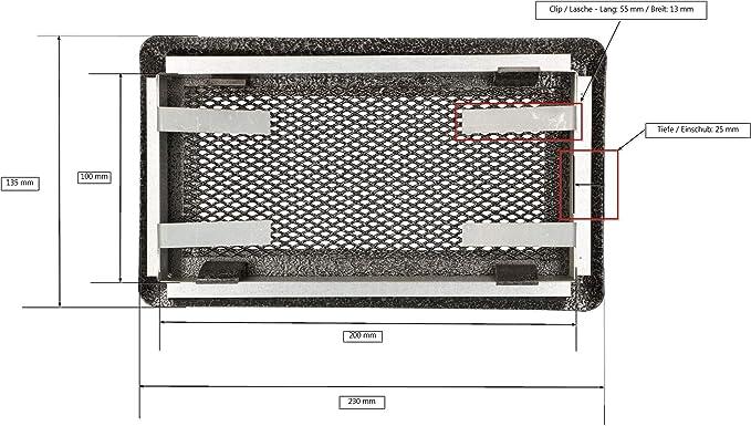 Rejilla de ventilaci/ón para chimeneas y hornos Kotarbau