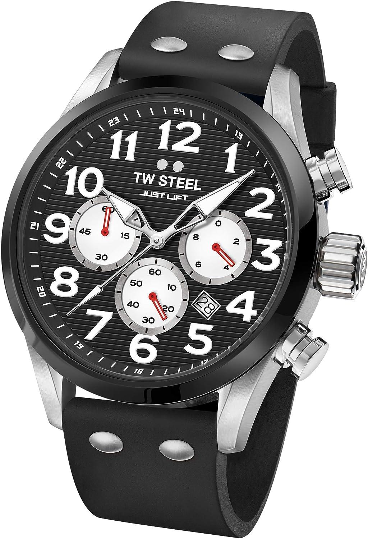 TW Steel Reloj Cronógrafo para Unisex Adultos de Cuarzo con Correa en Silicona TW985