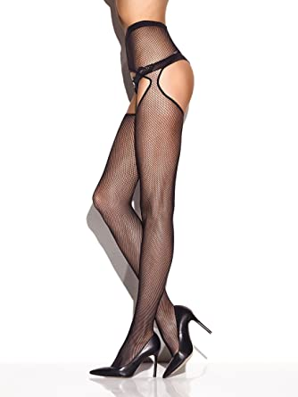 dabd192cf Ann Summers Womens Crotchless Fishnet Tights Bumless Sexy Lingerie Hosiery  Black S-M