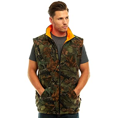 6e056cf4668ad TrailCrest Men's Reversible Camo & Blaze Orange Vest at Amazon Men's ...