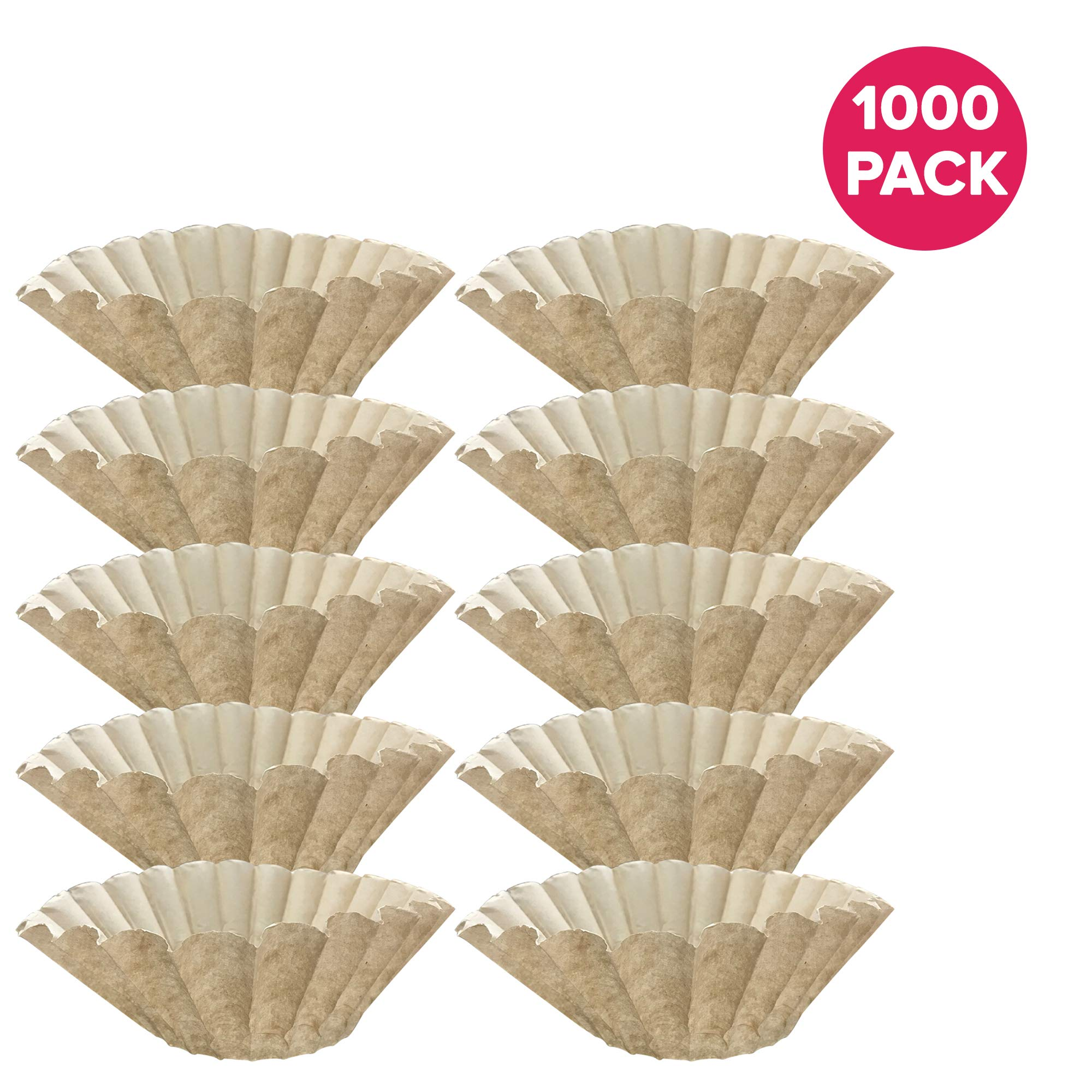 Think Crucial 1000PK Replacement for Bunn Unbleached Paper Coffee Filter Fits 12 Cup Commercial Coffee Brewers, Compatible with Part # 1M5002 & 20115.0000 by Think Crucial