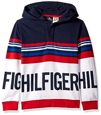 0561f944a Amazon.com: Tommy Hilfiger Boys' Big Adaptive Sweatshirt with Half ...