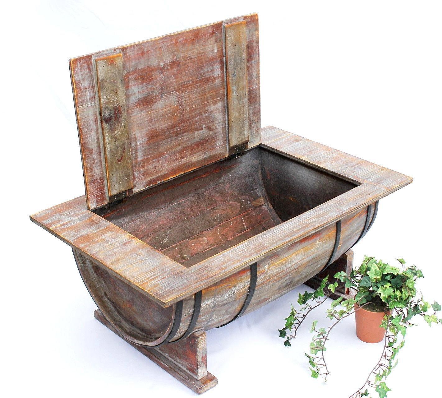 DanDiBo Couchtisch Weinfass 5084 Tisch Aus Holz Weinregal 80 Cm Beistelltisch Wein Bar Amazonde Kche Haushalt