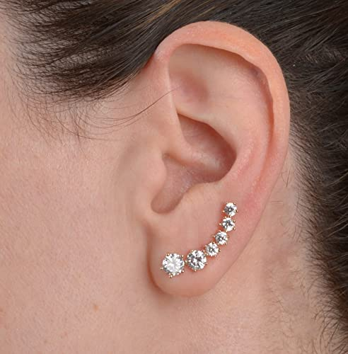 8a2345d30fd Amazon.com  Clear Crystal Ear Cuff Earring