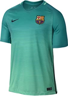 Nike Mens Barcelona Third Soccer Jersey 2016/2017 (Green Glow)