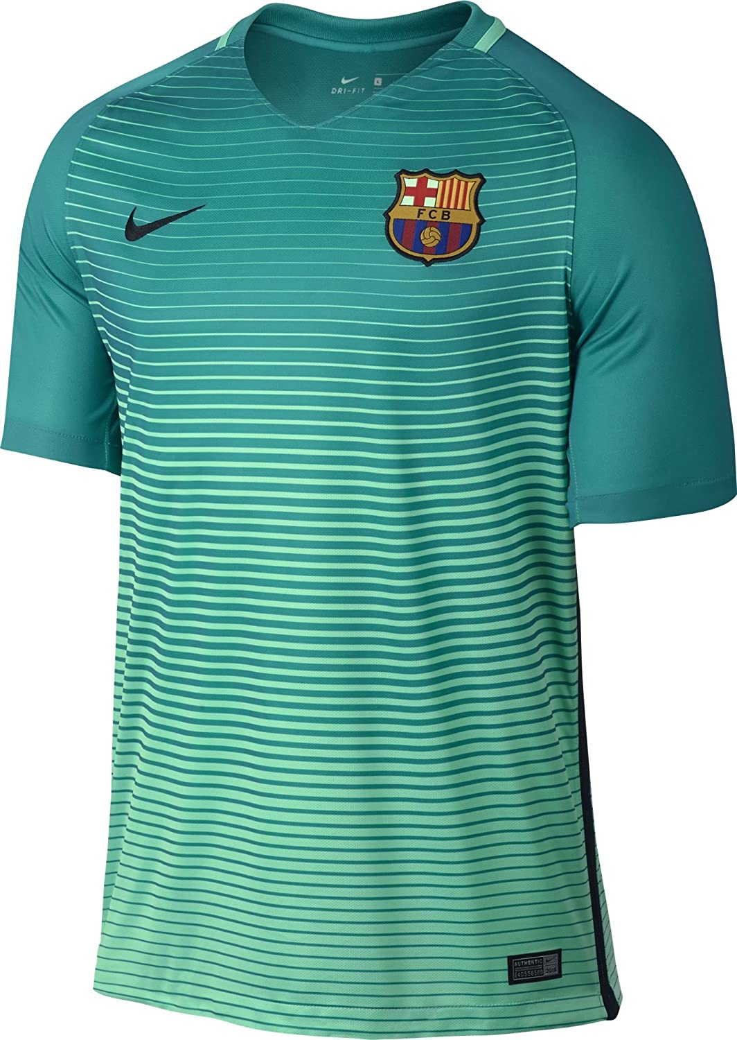 3af78bafa ... low cost nike mens barcelona third soccer jersey 2016 2017 green glow  28bfb f774e