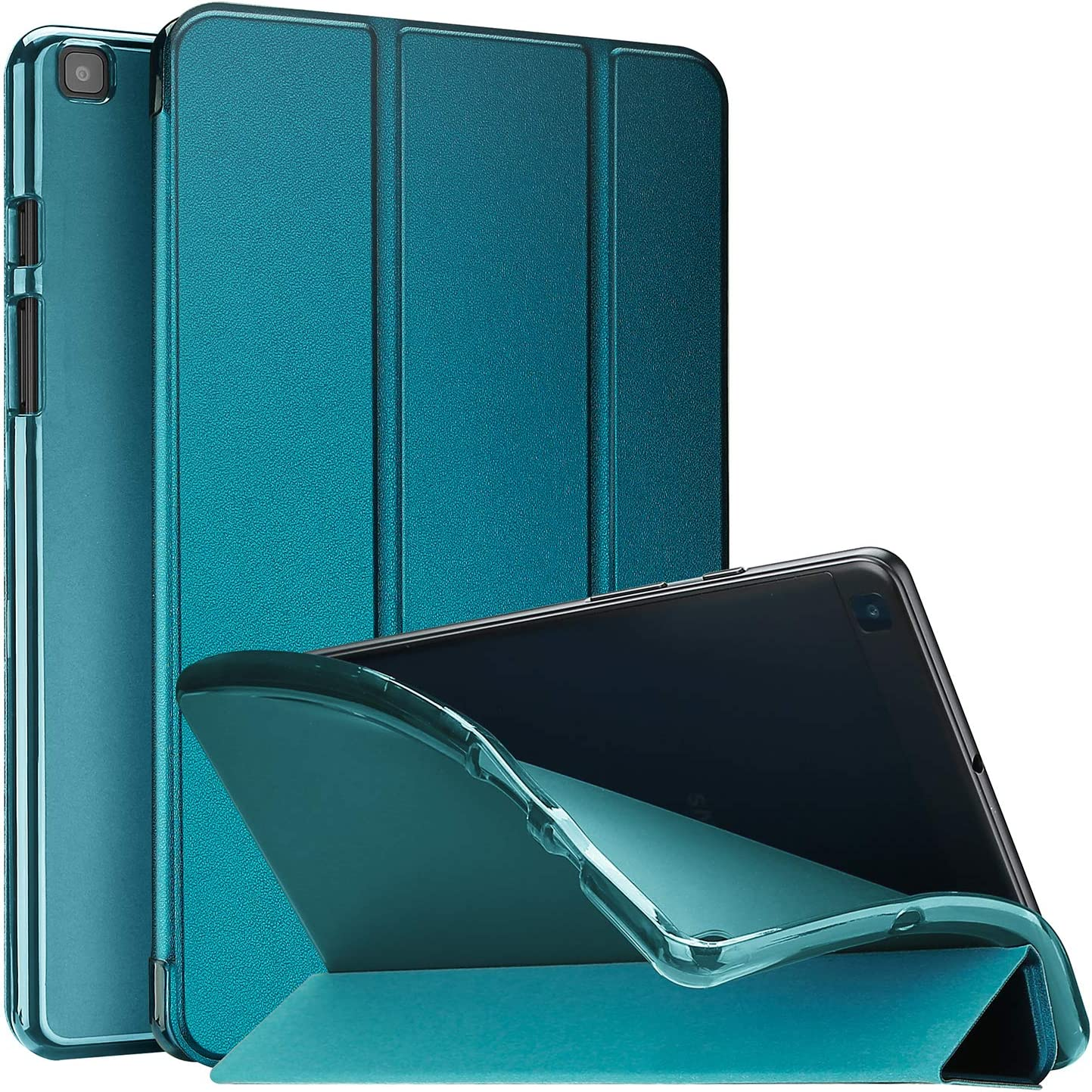 ProCase Galaxy Tab A 8.0 2019 Case T290 T295, Soft Slim Trifold Stand Folio Case with Flexible TPU Translucent Frosted Back Cover for 8.0 Inch Galaxy Tab A 2019 SM-T290 SM-T295 -Teal