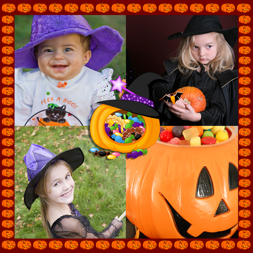 Halloween Photo Collage -