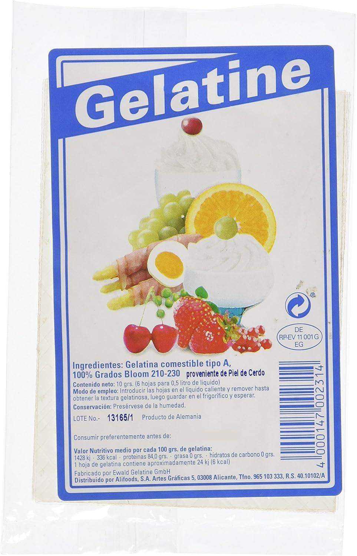 Ewald 6 Hojas de Gelatina - 25 Paquetes de 10 gr - Total: 250 ...