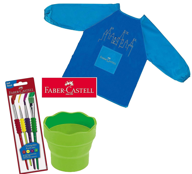 Faber-Castell 481600 Pinselset 4-teilig mit Softgriffstück Iden Nürnberg GmbH F181600