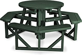 """product image for POLYWOOD PH36GR Park 36"""" Round Picnic Table, Green"""
