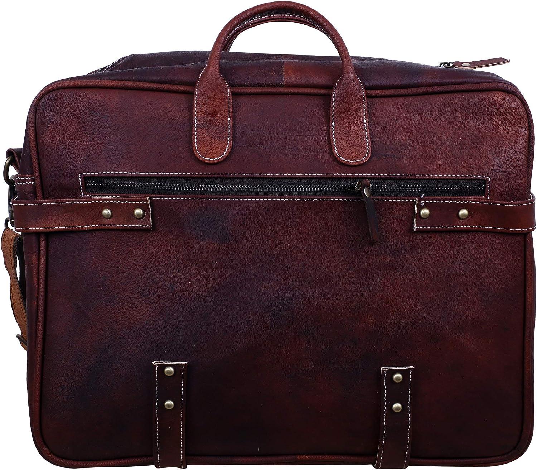 Leather Laptop Shoulder Bag 16 inch Briefcase Large Business Handbag Waterproof