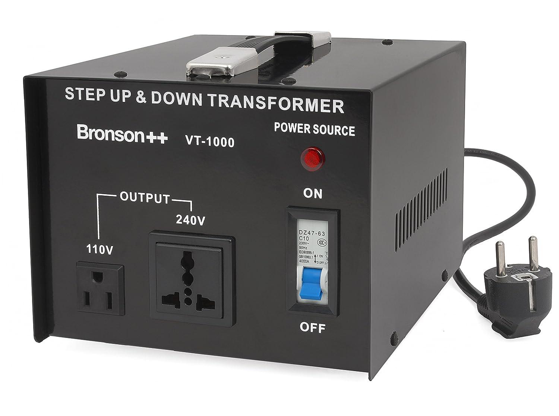 USA 110 Volt Converter Convertisseur de tension 110 //120 V 220 Bronson 240 V réversible 100W VT 100 Watt Transformateur Bronson+