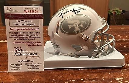 Signed Frank Gore Mini Helmet - Ice Witness - JSA Certified - Autographed  NFL Mini Helmets f1ec74277