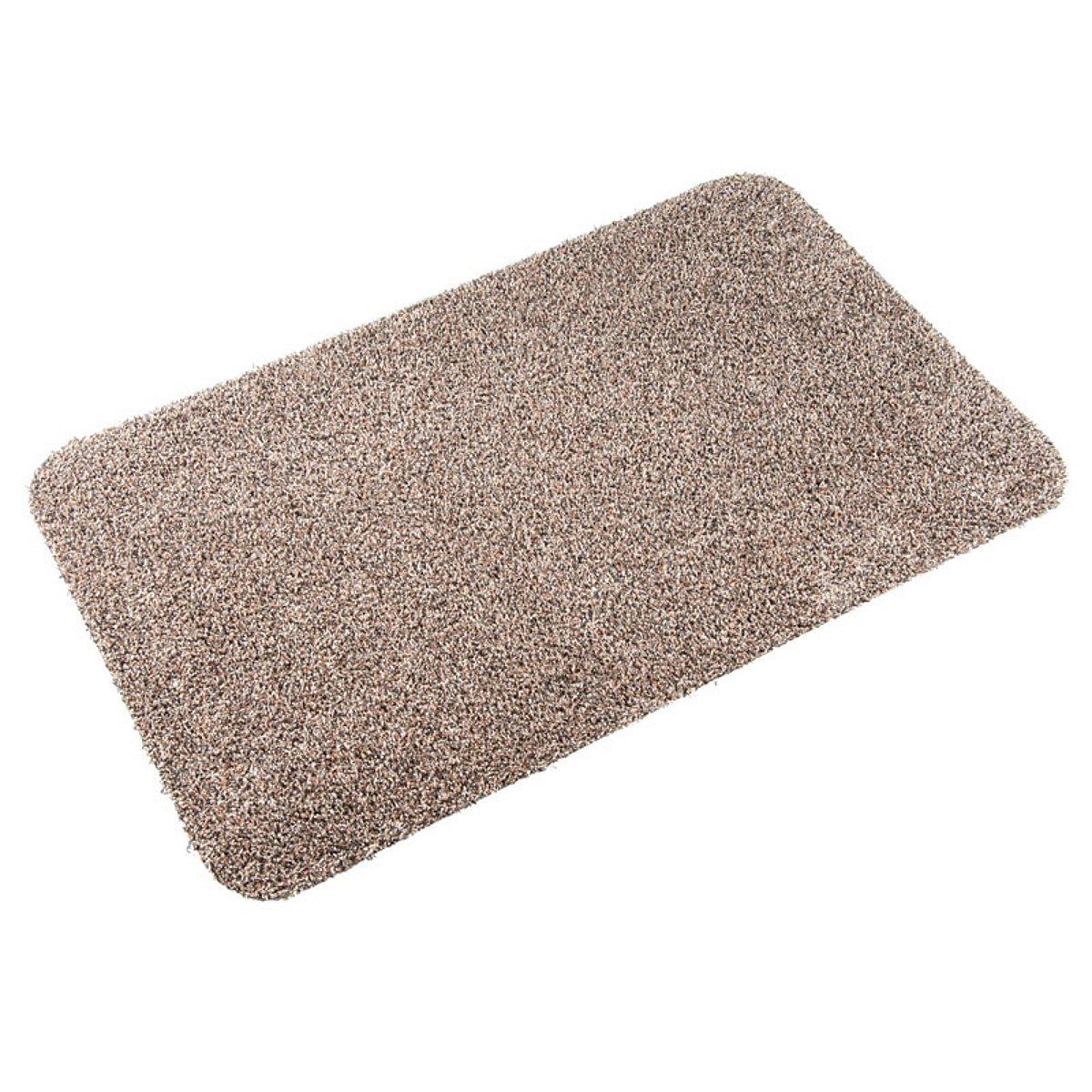 casa pura Entrance Door Mat | Highly Absorbent, 100% Cotton Pile | Machine Washable | Beige, 40x60cm