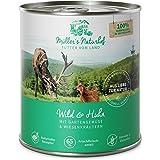 Müllers Naturhof   Nassfutter für alle Hunderassen   getreidefrei und glutenfrei   mit Gartengemüse und Wiesenkräutern   naturnahe Rezeptur mit 65% Fleisch und Fisch