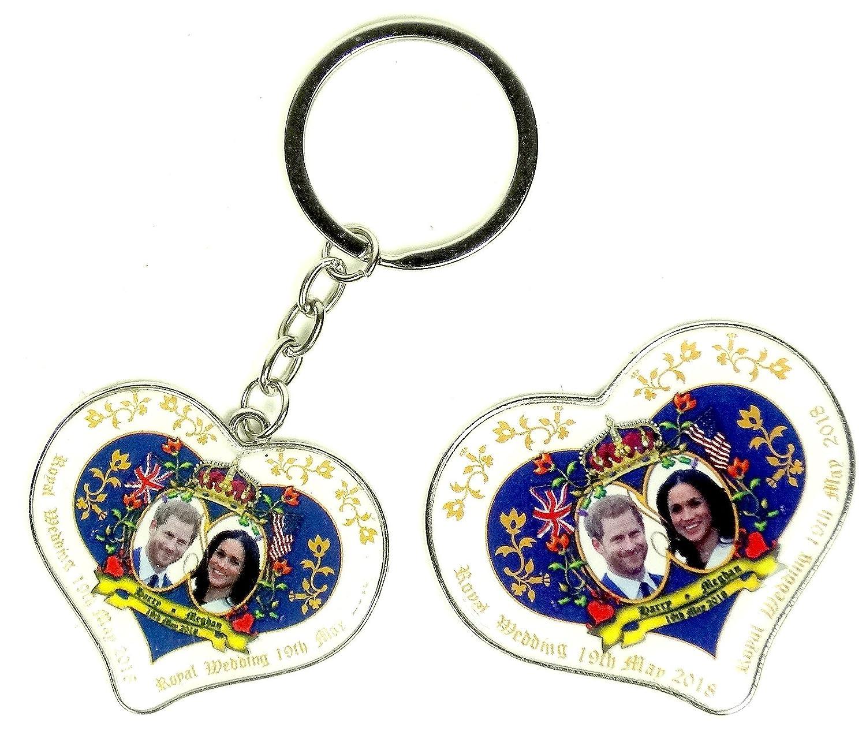 Heart Fridge Magnets//Keyrings Harry and Meghan Markle Royal Wedding Souvenir H R H Prince Henry of Wales Fridge Magnet and Keyring