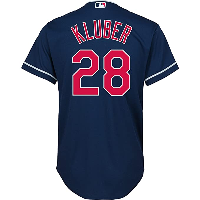 f44b033a7 Amazon.com   Outerstuff Corey Kluber  28 Cleveland Indians Youth Alternate  Jersey Navy   Sports   Outdoors