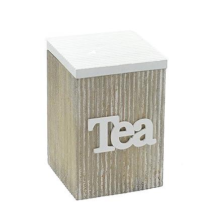 Vilys House Caja Madera para infusiones Decorada para Guardar el te a Granel, o Las