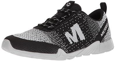 7c68b933db Merrell Men's Versent Kavari Lace Knit Sneaker, Black/White, 7 Medium US