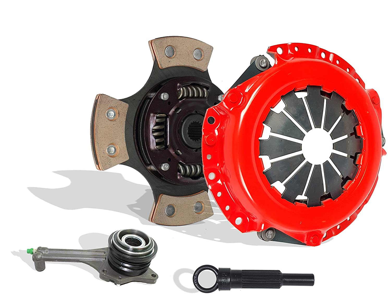 Clutch And Slave Kit Works With Mitsubishi Lancer Rally Edition Ls Es 2.0L l4 GAS SOHC Naturally Aspirated 2.0L l4 GAS DOHC Turbocharged (5 Speed Trans; ...