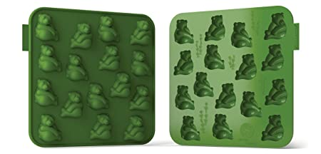 "Siliconezone My Animals Collection 6.9"" Non-Stick Silicone Panda Chocolate Mold, Green Bakeware Moulds & Tins at amazon"