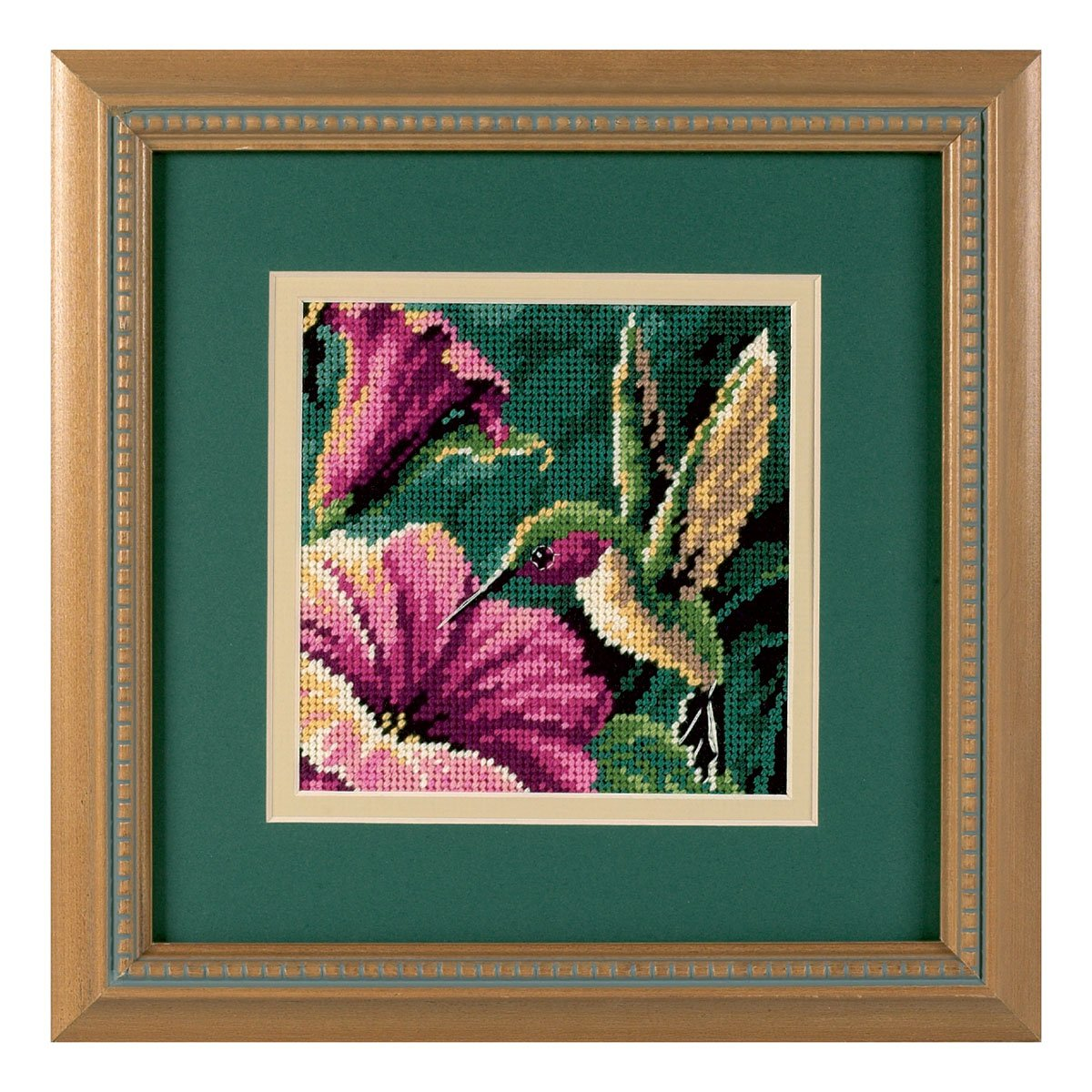 """Dimensions Mini Needlepoint Kit 5/""""X5/""""-Dragonfly Pair Stitched In Thread"""