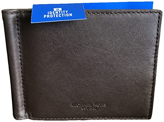 5996c660182769 Michael Kors Men's Odin Leather ID Protection Bifold Money Clip Wallet  Brown: Amazon.co.uk: Clothing