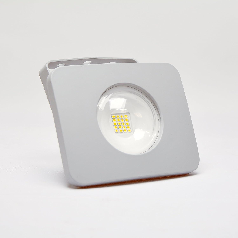 Dlu led-luminaria - Proyector led ip65 cuadrado 10w 230v 4k ...