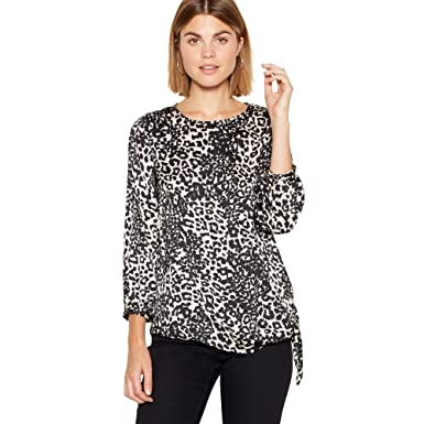 a13d7263d1432b Debenhams The Collection Womens Multicoloured Leopard Print Satin Blouse 10:  The Collection: Amazon.co.uk: Clothing