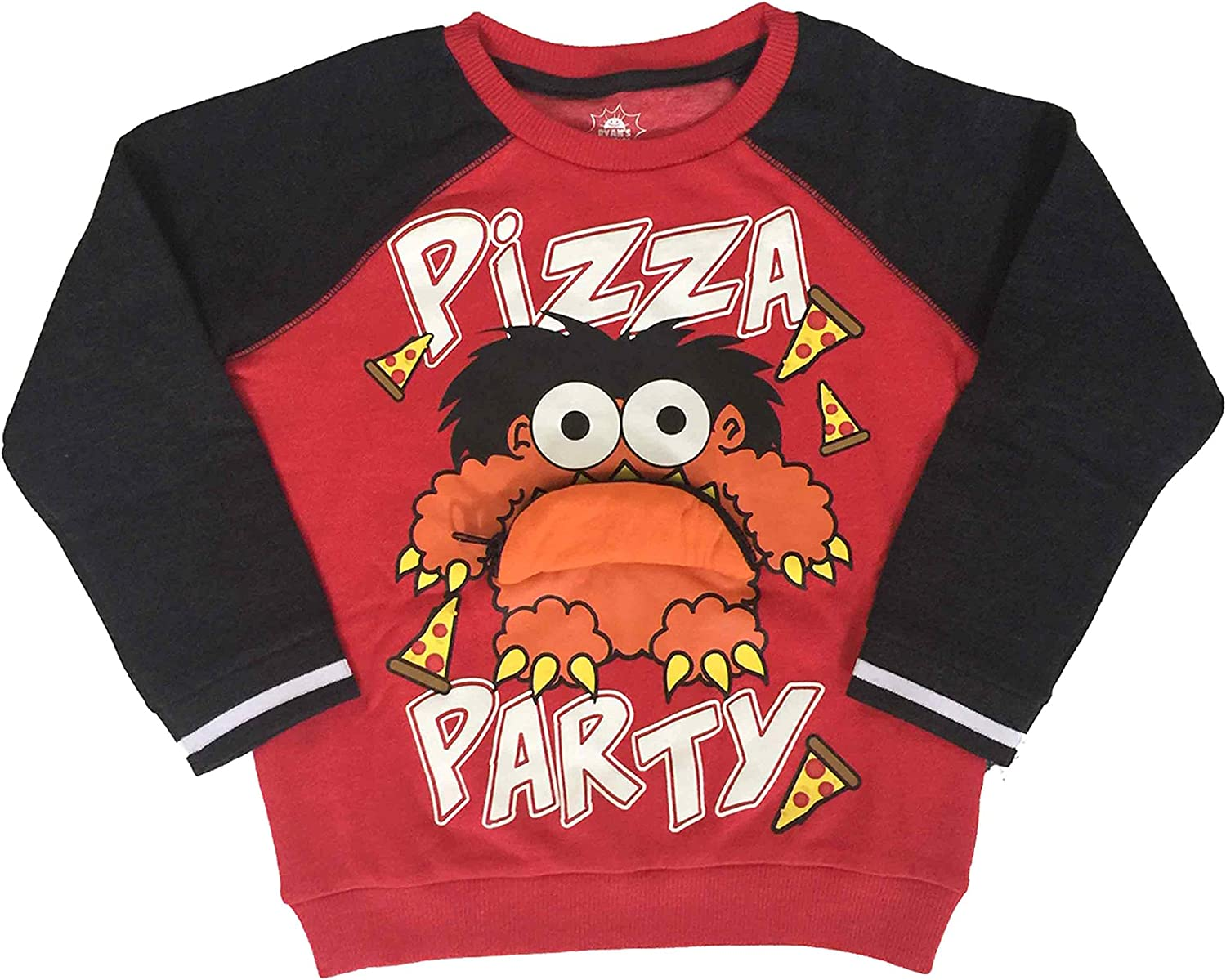 Ryans World Little Boys Pizza Party Long Sleeve Pullover Red 4//4T