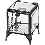 Beveled Glass Box Jewelry Chest Trinket Keepsake Display Decorative Stained Glass Clear Crystal Ring Dish Gift J Devlin Box 1
