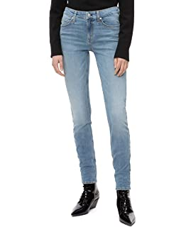 Calvin Klein Womens Mid Rise Super Skinny Fit Jeans at ...