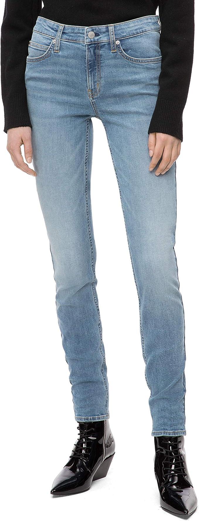 Calvin Klein 卡尔文克莱因 CK 中腰 女式紧身牛仔裤 28W*28L码 3.1折$21.88 海淘转运到手约¥193