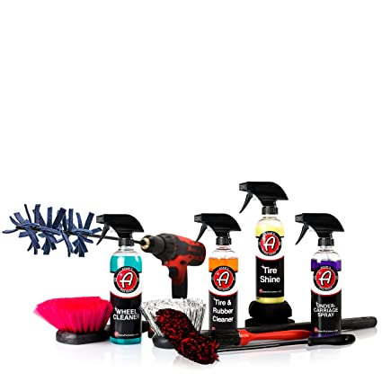Adams Complete Wheel & Tire Car Kit to Professionally Detail Your Wheels & Tires - Wheel