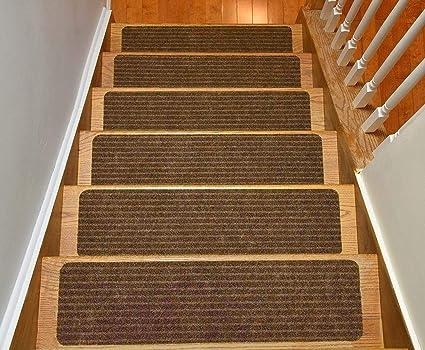 Genial Stair Treads Collection Set Of 13 Indoor Skid Slip Resistant Brown Carpet Stair  Tread Treads (