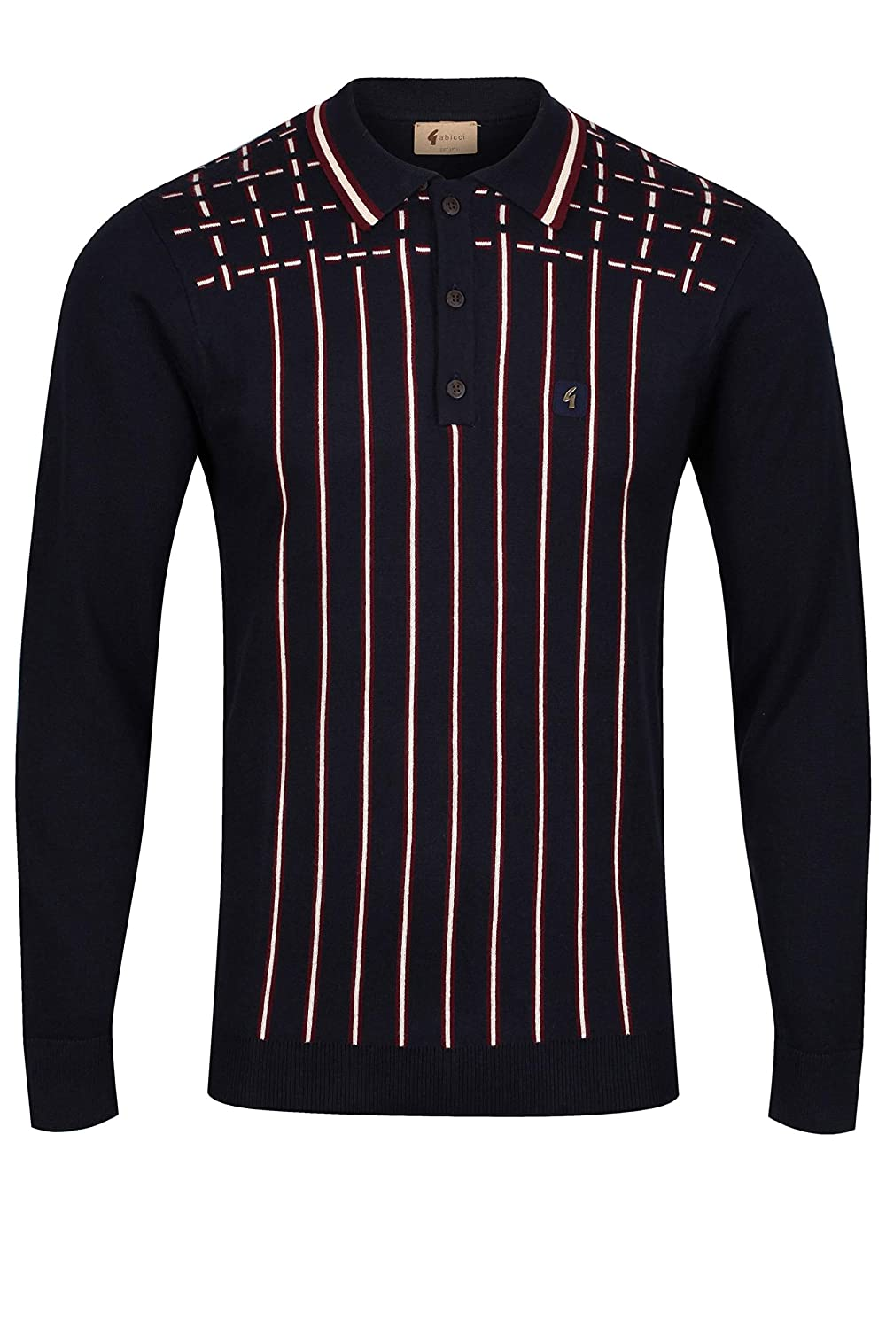Gabicci Biome Long Sleeve Polo Shirt | Navy Xlarge: Amazon.es ...