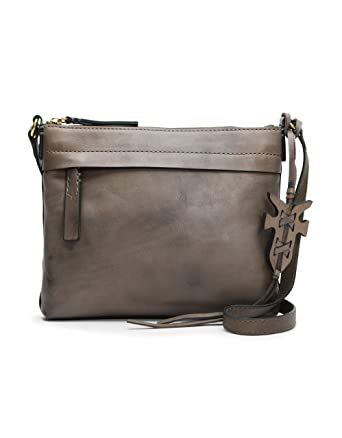 65958808c08b FRYE Carson Zip Crossbody Leather Bag grey