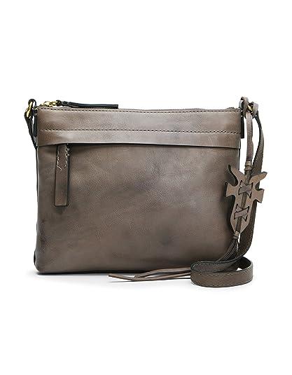 8a50142654936c FRYE Carson Zip Crossbody Leather Bag, Grey: Amazon.co.uk: Shoes & Bags